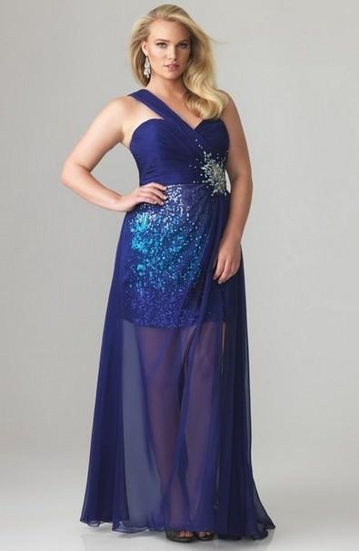 Випускне плаття на одне плече для повних afd99ac4a9788