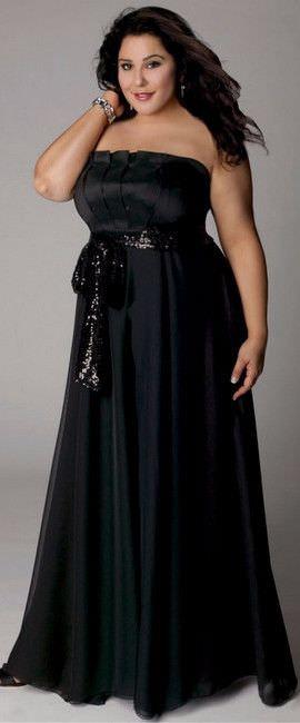 платья с длинным рукавом для полных женщин