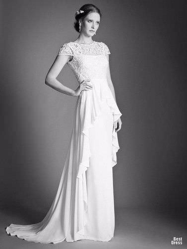 Весільні плаття в ретро стилі 40 фото