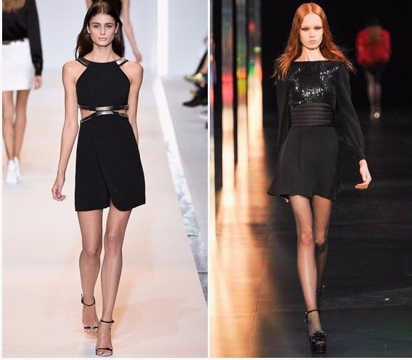 У колекціях популярних брендів можна побачити улюблені багатьма дівчатами  чорні міні-плаття e9d9449b37d6f