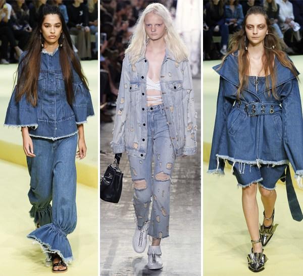 647e08ada99f65 Модний жіночий джинсовий одяг Marques Almeida Alexander Wang (посередині)  весна-літо 2017