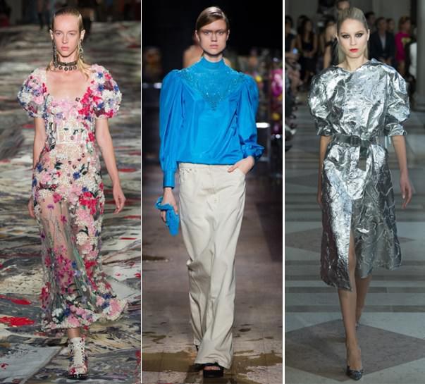 c1080eb2471202 Модні плаття і блука з пишними рукавами від Alexander McQueen, Dries von  Noten, Carolina